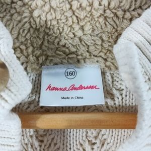 Hanna Andersson Shirts & Tops - Hanna Andersson Cable Knit Sweater Size 160 14-16